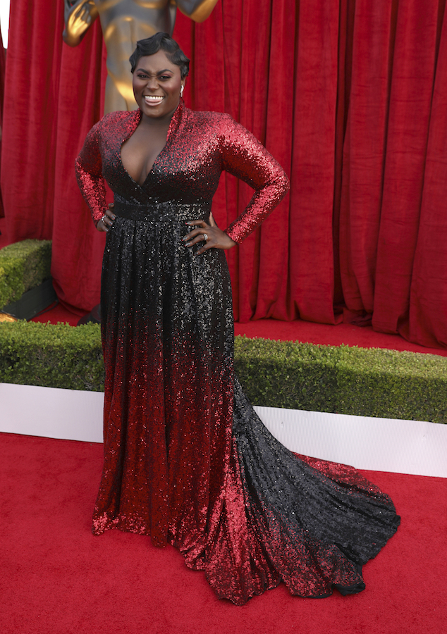 <div class='meta'><div class='origin-logo' data-origin='AP'></div><span class='caption-text' data-credit='Matt Sayles/Invision/AP'>Danielle Brooks arrives at the 24th annual Screen Actors Guild Awards at the Shrine Auditorium & Expo Hall on Sunday, Jan. 21, 2018, in Los Angeles.</span></div>