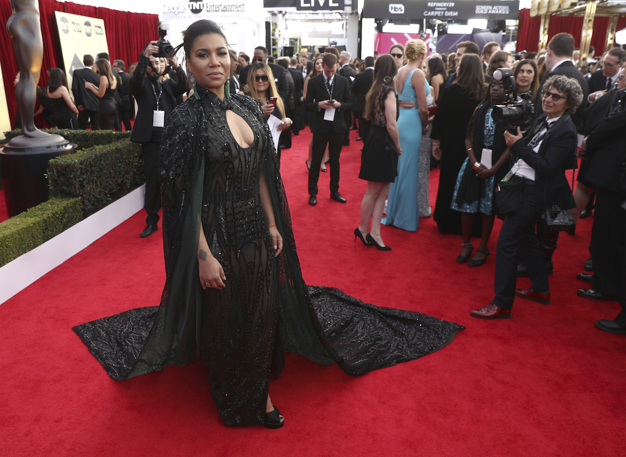 <div class='meta'><div class='origin-logo' data-origin='AP'></div><span class='caption-text' data-credit='Matt Sayles/Invision/AP'>Jessica Pimentel arrives at the 24th annual Screen Actors Guild Awards at the Shrine Auditorium & Expo Hall on Sunday, Jan. 21, 2018, in Los Angeles.</span></div>