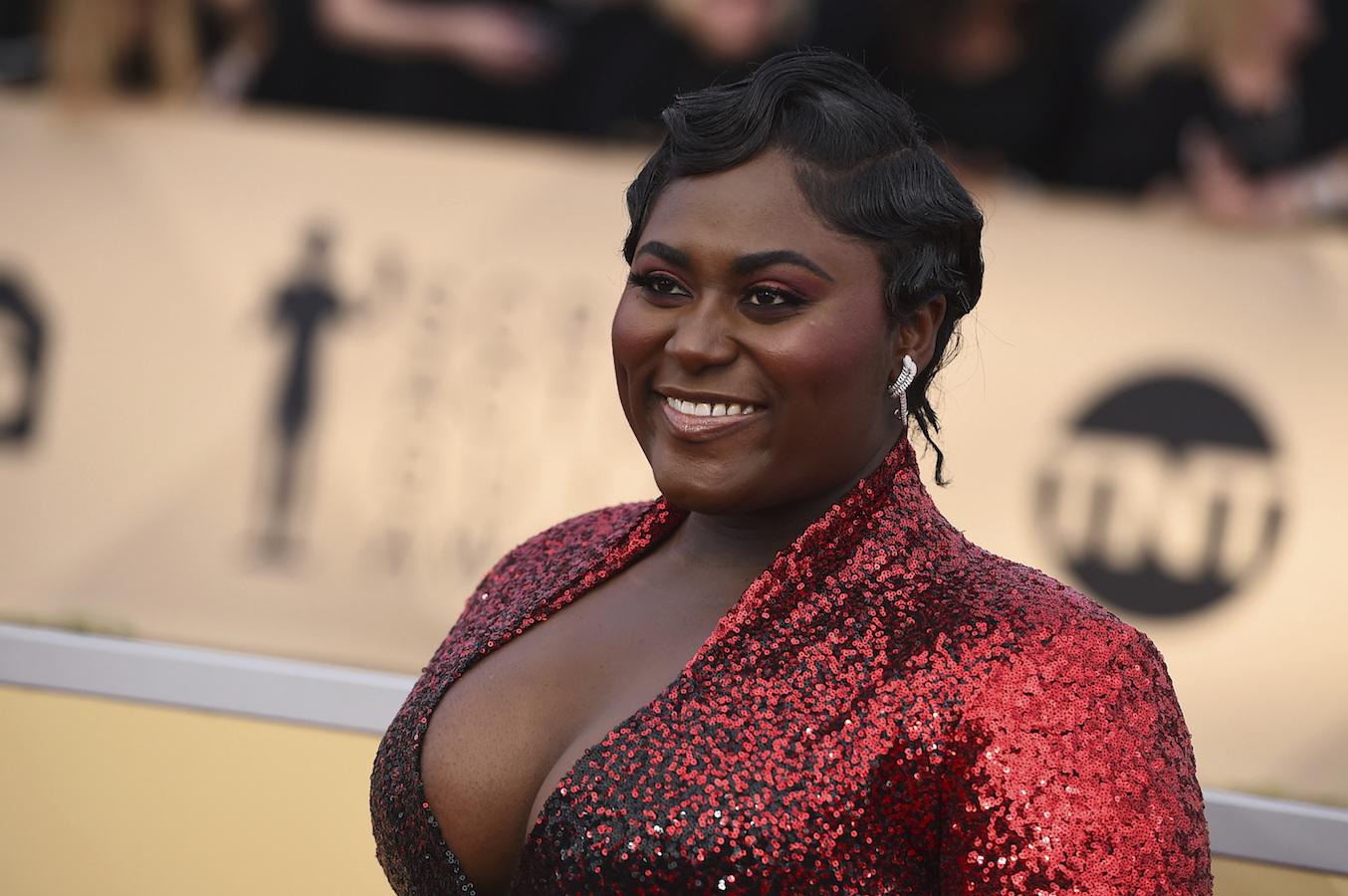 <div class='meta'><div class='origin-logo' data-origin='AP'></div><span class='caption-text' data-credit='Jordan Strauss/Invision/AP'>Danielle Brooks arrives at the 24th annual Screen Actors Guild Awards at the Shrine Auditorium & Expo Hall on Sunday, Jan. 21, 2018, in Los Angeles.</span></div>