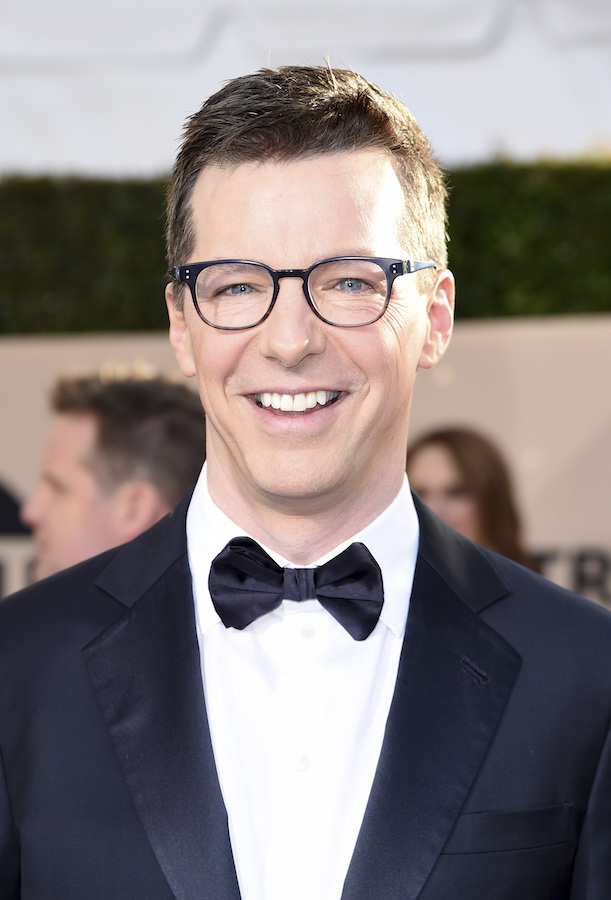 <div class='meta'><div class='origin-logo' data-origin='AP'></div><span class='caption-text' data-credit='Richard Shotwell/Invision/AP'>Sean Hayes arrives at the 24th annual Screen Actors Guild Awards at the Shrine Auditorium & Expo Hall on Sunday, Jan. 21, 2018, in Los Angeles.</span></div>