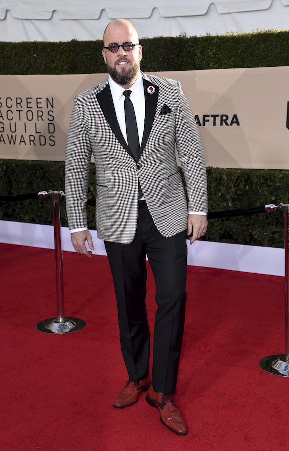 <div class='meta'><div class='origin-logo' data-origin='AP'></div><span class='caption-text' data-credit='Richard Shotwell/Invision/AP'>Chris Sullivan arrives at the 24th annual Screen Actors Guild Awards at the Shrine Auditorium & Expo Hall on Sunday, Jan. 21, 2018, in Los Angeles.</span></div>
