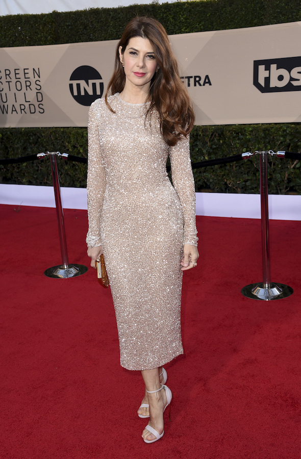 <div class='meta'><div class='origin-logo' data-origin='AP'></div><span class='caption-text' data-credit='Richard Shotwell/Invision/AP'>Marisa Tomei arrives at the 24th annual Screen Actors Guild Awards at the Shrine Auditorium & Expo Hall on Sunday, Jan. 21, 2018, in Los Angeles.</span></div>