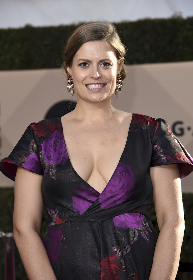 <div class='meta'><div class='origin-logo' data-origin='AP'></div><span class='caption-text' data-credit='Richard Shotwell/Invision/AP'>Marianna Palka arrives at the 24th annual Screen Actors Guild Awards at the Shrine Auditorium & Expo Hall on Sunday, Jan. 21, 2018, in Los Angeles.</span></div>
