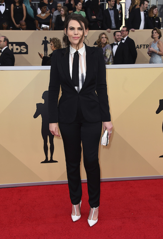<div class='meta'><div class='origin-logo' data-origin='AP'></div><span class='caption-text' data-credit='Jordan Strauss/Invision/AP'>Clea DuVall arrives at the 24th annual Screen Actors Guild Awards at the Shrine Auditorium & Expo Hall on Sunday, Jan. 21, 2018, in Los Angeles.</span></div>