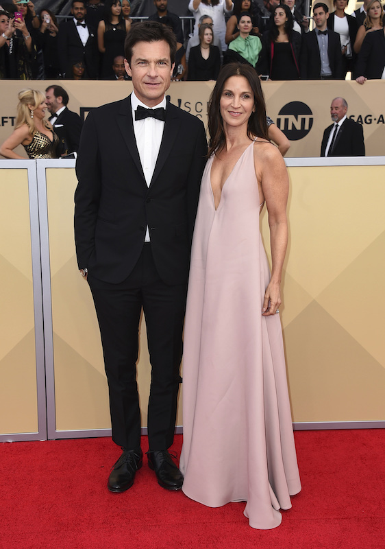 <div class='meta'><div class='origin-logo' data-origin='AP'></div><span class='caption-text' data-credit='Jordan Strauss/Invision/AP'>Jason Bateman, left, and Amanda Anka arrive at the 24th annual Screen Actors Guild Awards at the Shrine Auditorium & Expo Hall on Sunday, Jan. 21, 2018, in Los Angeles.</span></div>