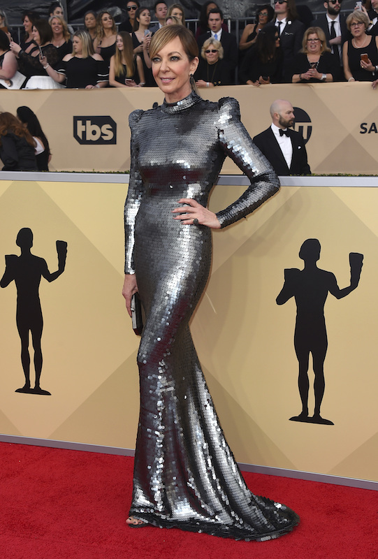 <div class='meta'><div class='origin-logo' data-origin='AP'></div><span class='caption-text' data-credit='Jordan Strauss/Invision/AP'>Allison Janney arrives at the 24th annual Screen Actors Guild Awards at the Shrine Auditorium & Expo Hall on Sunday, Jan. 21, 2018, in Los Angeles.</span></div>