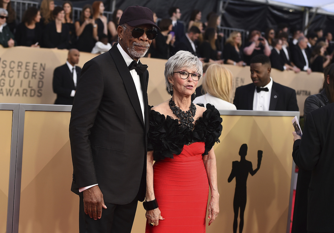 <div class='meta'><div class='origin-logo' data-origin='AP'></div><span class='caption-text' data-credit='Jordan Strauss/Invision/AP'>Morgan Freeman, left, and Rita Moreno arrive at the 24th annual Screen Actors Guild Awards at the Shrine Auditorium & Expo Hall on Sunday, Jan. 21, 2018, in Los Angeles.</span></div>