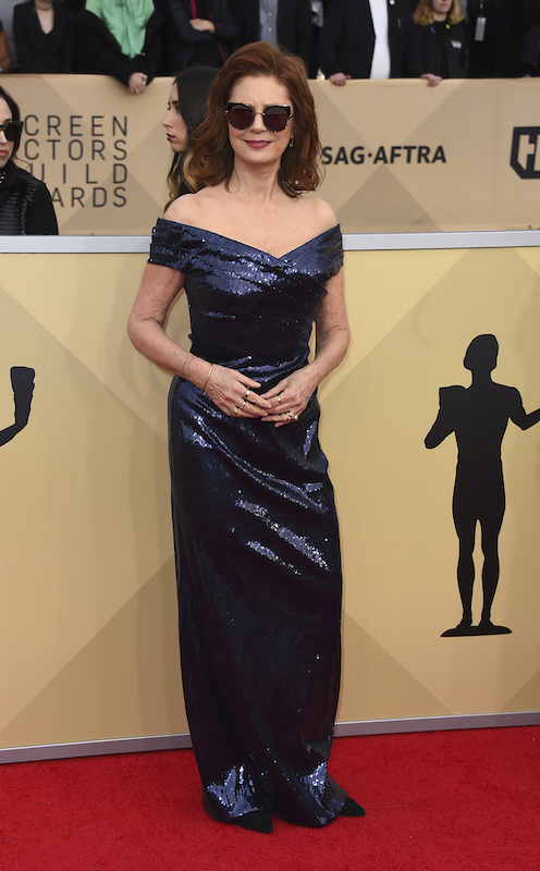<div class='meta'><div class='origin-logo' data-origin='AP'></div><span class='caption-text' data-credit='Jordan Strauss/Invision/AP'>Susan Sarandon arrives at the 24th annual Screen Actors Guild Awards at the Shrine Auditorium & Expo Hall on Sunday, Jan. 21, 2018, in Los Angeles.</span></div>