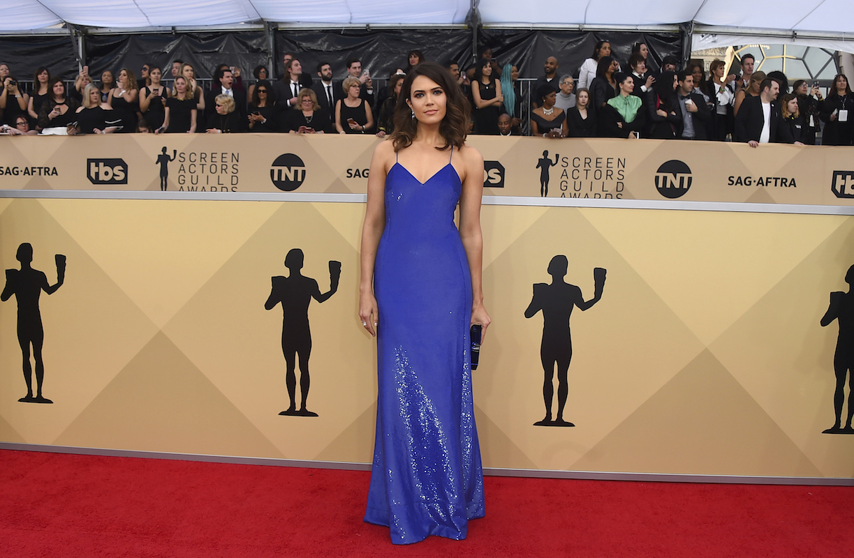 <div class='meta'><div class='origin-logo' data-origin='AP'></div><span class='caption-text' data-credit='Jordan Strauss/Invision/AP'>Mandy Moore arrives at the 24th annual Screen Actors Guild Awards at the Shrine Auditorium & Expo Hall on Sunday, Jan. 21, 2018, in Los Angeles.</span></div>
