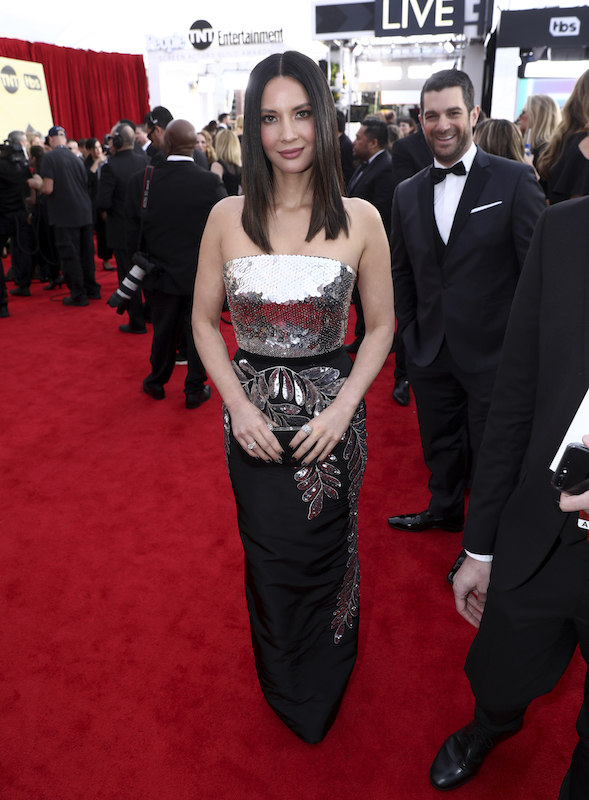 <div class='meta'><div class='origin-logo' data-origin='AP'></div><span class='caption-text' data-credit='Matt Sayles/Invision/AP'>Olivia Munn arrives at the 24th annual Screen Actors Guild Awards at the Shrine Auditorium & Expo Hall on Sunday, Jan. 21, 2018, in Los Angeles.</span></div>