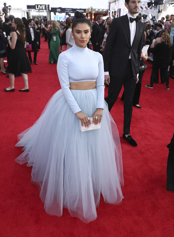 <div class='meta'><div class='origin-logo' data-origin='AP'></div><span class='caption-text' data-credit='Matt Sayles/Invision/AP'>Diane Guerrero arrives at the 24th annual Screen Actors Guild Awards at the Shrine Auditorium & Expo Hall on Sunday, Jan. 21, 2018, in Los Angeles.</span></div>