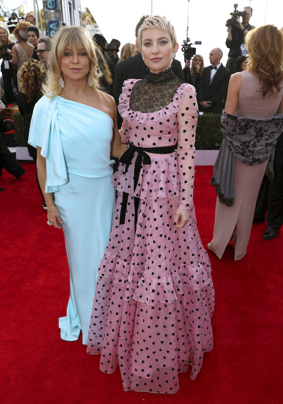 <div class='meta'><div class='origin-logo' data-origin='AP'></div><span class='caption-text' data-credit='Matt Sayles/Invision/AP'>Goldie Hawn, left, and Kate Hudson arrive at the 24th annual Screen Actors Guild Awards at the Shrine Auditorium & Expo Hall on Sunday, Jan. 21, 2018, in Los Angeles.</span></div>