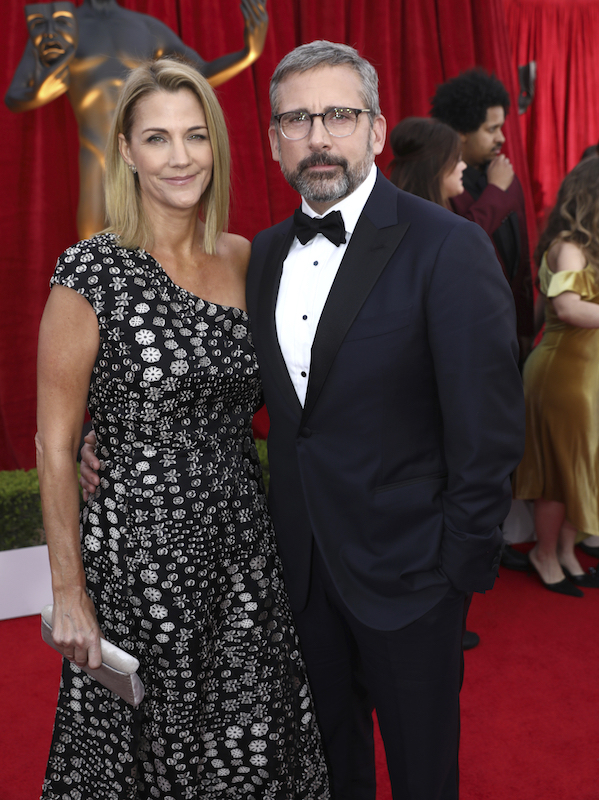 <div class='meta'><div class='origin-logo' data-origin='AP'></div><span class='caption-text' data-credit='Matt Sayles/Invision/AP'>Steve Carell, right, and Nancy Carell arrive at the 24th annual Screen Actors Guild Awards at the Shrine Auditorium & Expo Hall on Sunday, Jan. 21, 2018, in Los Angeles.</span></div>