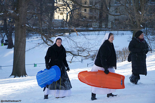 <div class='meta'><div class='origin-logo' data-origin='none'></div><span class='caption-text' data-credit='mikefriedman77/Twitter/ABC News'>A group of nuns enjoyed the blizzard by going sledding in Central Park in New York City.</span></div>