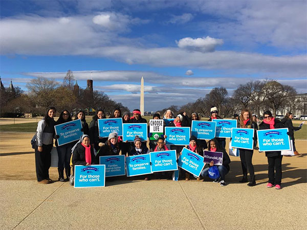 "<div class=""meta image-caption""><div class=""origin-logo origin-image none""><span>none</span></div><span class=""caption-text"">Students from Mary Help of Christians Academy in North Haledon, NJ, gather in Washington, D.C. for March for Life on Friday, Jan. 27. (Sister B/Instagram)</span></div>"