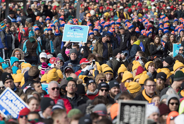 "<div class=""meta image-caption""><div class=""origin-logo origin-image none""><span>none</span></div><span class=""caption-text"">Pro-life supporters gather at the Washington Monument to hear Vice President Mike Pence speak at the March for Life rally on January 27, 2017. (TASOS KATOPODIS/AFP/Getty Images)</span></div>"