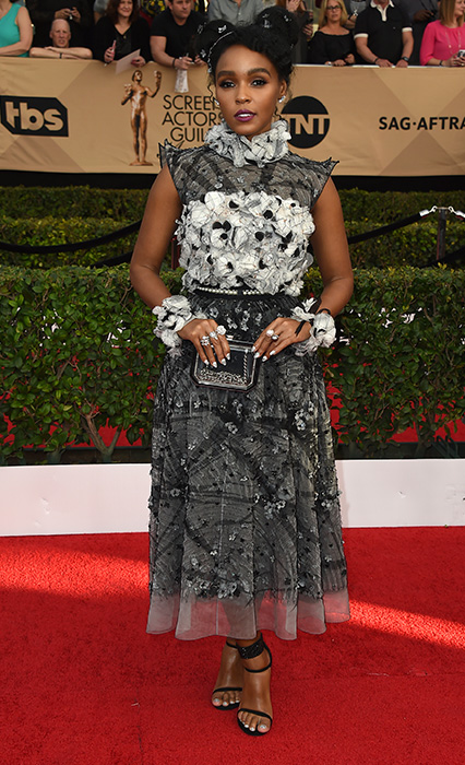 "<div class=""meta image-caption""><div class=""origin-logo origin-image none""><span>none</span></div><span class=""caption-text"">Janelle Monae arrives at the 23rd annual Screen Actors Guild Awards at the Shrine Auditorium & Expo Hall on Sunday, Jan. 29, 2017, in Los Angeles. (Jordan Strauss/Invision/AP)</span></div>"