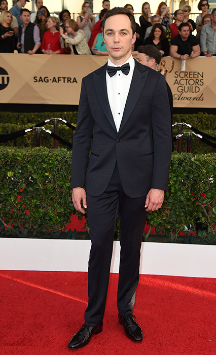 "<div class=""meta image-caption""><div class=""origin-logo origin-image none""><span>none</span></div><span class=""caption-text"">Jim Parsons arrives at the 23rd annual Screen Actors Guild Awards at the Shrine Auditorium & Expo Hall on Sunday, Jan. 29, 2017, in Los Angeles. (Jordan Strauss/Invision/AP)</span></div>"