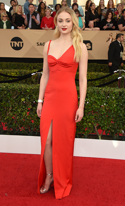 "<div class=""meta image-caption""><div class=""origin-logo origin-image none""><span>none</span></div><span class=""caption-text"">Sophie Turner arrives at the 23rd annual Screen Actors Guild Awards at the Shrine Auditorium & Expo Hall on Sunday, Jan. 29, 2017, in Los Angeles. (Jordan Strauss/Invision/AP)</span></div>"