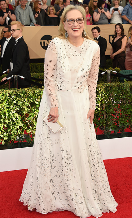 "<div class=""meta image-caption""><div class=""origin-logo origin-image ap""><span>AP</span></div><span class=""caption-text"">Meryl Streep arrives at the 23rd annual Screen Actors Guild Awards at the Shrine Auditorium & Expo Hall on Sunday, Jan. 29, 2017, in Los Angeles. (Jordan Strauss/Invision/AP)</span></div>"