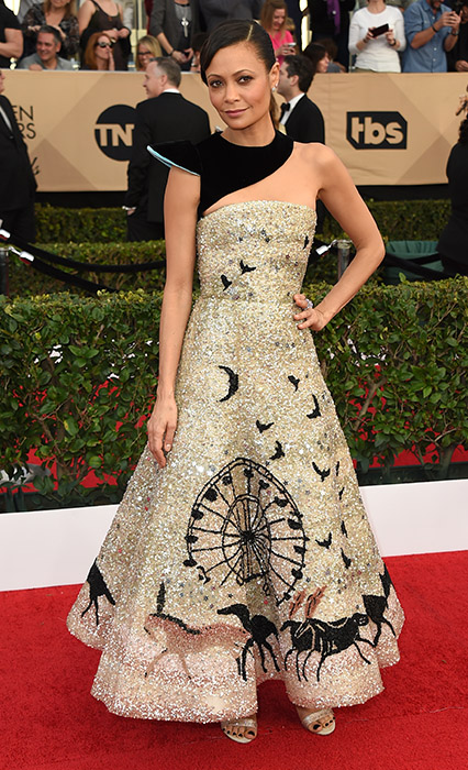 "<div class=""meta image-caption""><div class=""origin-logo origin-image none""><span>none</span></div><span class=""caption-text"">Thandie Newton arrives at the 23rd annual Screen Actors Guild Awards at the Shrine Auditorium & Expo Hall on Sunday, Jan. 29, 2017, in Los Angeles. (Jordan Strauss/Invision/AP)</span></div>"