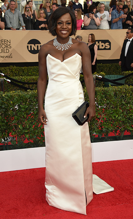 "<div class=""meta image-caption""><div class=""origin-logo origin-image none""><span>none</span></div><span class=""caption-text"">Viola Davis arrives at the 23rd annual Screen Actors Guild Awards at the Shrine Auditorium & Expo Hall on Sunday, Jan. 29, 2017, in Los Angeles. (Jordan Strauss/Invision/AP)</span></div>"