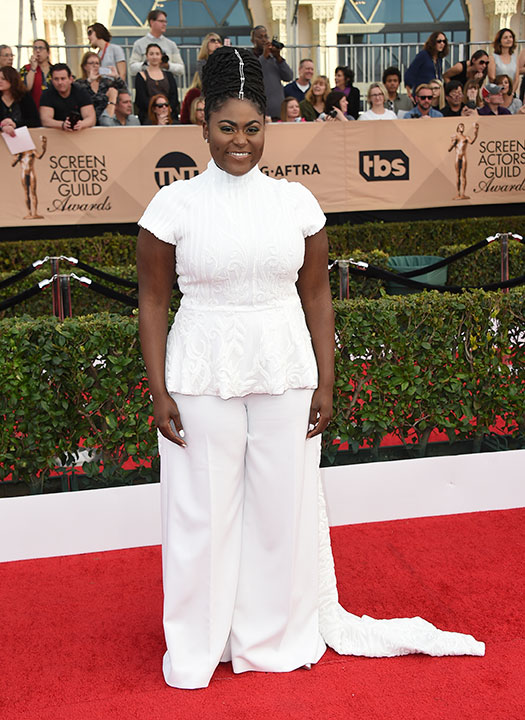 "<div class=""meta image-caption""><div class=""origin-logo origin-image none""><span>none</span></div><span class=""caption-text"">Danielle Brooks arrives at the 23rd annual Screen Actors Guild Awards at the Shrine Auditorium & Expo Hall on Sunday, Jan. 29, 2017, in Los Angeles. (Jordan Strauss/Invision/AP)</span></div>"