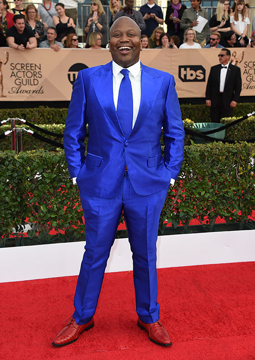 "<div class=""meta image-caption""><div class=""origin-logo origin-image none""><span>none</span></div><span class=""caption-text"">Tituss Burgess arrives at the 23rd annual Screen Actors Guild Awards at the Shrine Auditorium & Expo Hall on Sunday, Jan. 29, 2017, in Los Angeles. (Jordan Strauss/Invision/AP)</span></div>"