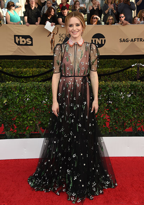 "<div class=""meta image-caption""><div class=""origin-logo origin-image none""><span>none</span></div><span class=""caption-text"">Claire Foy arrives at the 23rd annual Screen Actors Guild Awards at the Shrine Auditorium & Expo Hall on Sunday, Jan. 29, 2017, in Los Angeles. (Jordan Strauss/Invision/AP)</span></div>"