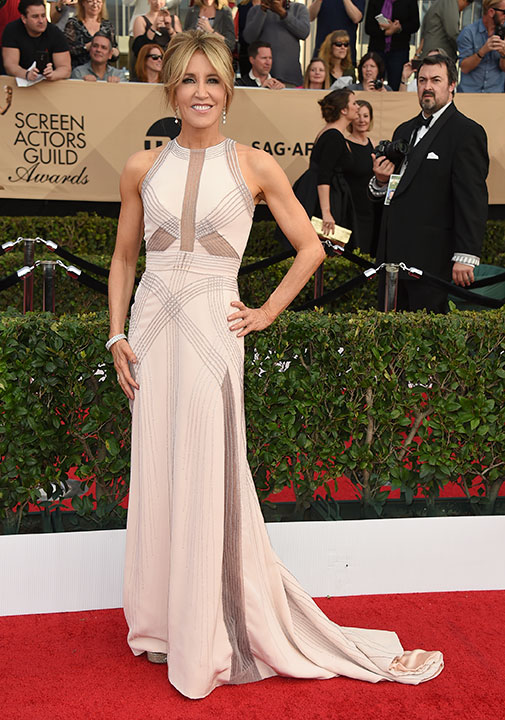 "<div class=""meta image-caption""><div class=""origin-logo origin-image none""><span>none</span></div><span class=""caption-text"">Felicity Huffman arrives at the 23rd annual Screen Actors Guild Awards at the Shrine Auditorium & Expo Hall on Sunday, Jan. 29, 2017, in Los Angeles. (Jordan Strauss/Invision/AP)</span></div>"