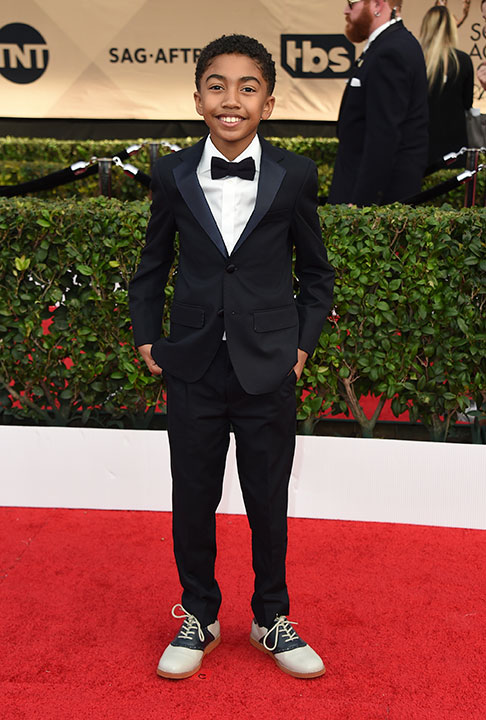 "<div class=""meta image-caption""><div class=""origin-logo origin-image none""><span>none</span></div><span class=""caption-text"">Miles Brown arrives at the 23rd annual Screen Actors Guild Awards at the Shrine Auditorium & Expo Hall on Sunday, Jan. 29, 2017, in Los Angeles. (Jordan Strauss/Invision/AP)</span></div>"