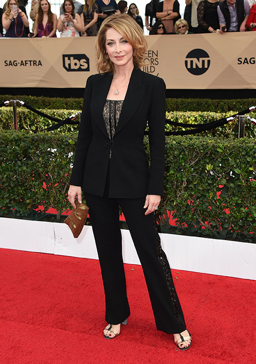 "<div class=""meta image-caption""><div class=""origin-logo origin-image none""><span>none</span></div><span class=""caption-text"">Sharon Lawrence arrives at the 23rd annual Screen Actors Guild Awards at the Shrine Auditorium & Expo Hall on Sunday, Jan. 29, 2017, in Los Angeles. (Jordan Strauss/Invision/AP)</span></div>"