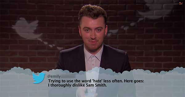 """<div class=""""meta image-caption""""><div class=""""origin-logo origin-image none""""><span>none</span></div><span class=""""caption-text"""">Jimmy Kimmel is at it again with another 'mean tweets' segment, this time with music stars. (Jimmy Kimmel Live/YouTube)</span></div>"""