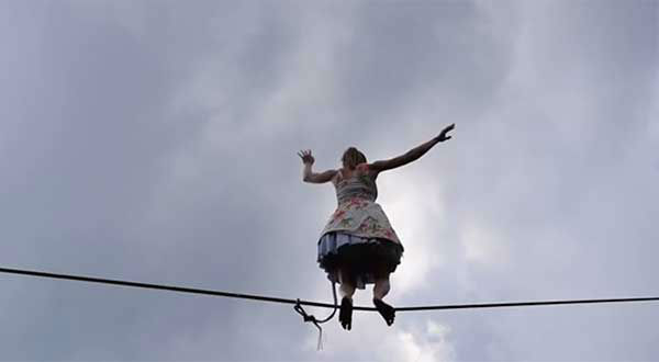 <div class='meta'><div class='origin-logo' data-origin='none'></div><span class='caption-text' data-credit='Faith Dickey/thatslacklinegirl.com'>Dickey's stunt was part of the fifth annual &#34;Girls Only Slackline Festival,&#34; which was attended by about 30 female slackliners.</span></div>
