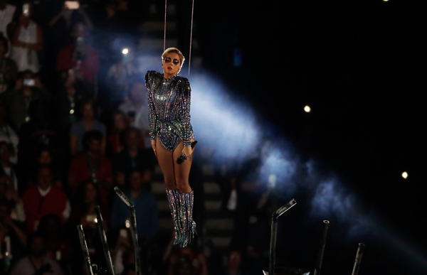 "<div class=""meta image-caption""><div class=""origin-logo origin-image none""><span>none</span></div><span class=""caption-text"">Lady Gaga performs during the halftime show of the NFL Super Bowl 51 football game between the Atlanta Falcons and the New England Patriots, Sunday, Feb. 5, 2017, in Houston. (Charlie Riedel/AP)</span></div>"