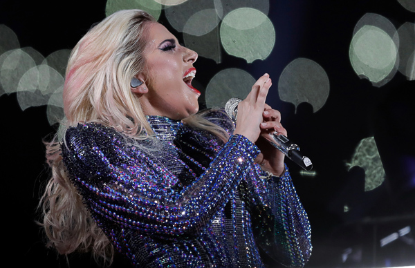 <div class='meta'><div class='origin-logo' data-origin='none'></div><span class='caption-text' data-credit='Darron Cummings/AP'>Singer Lady Gaga performs during the halftime show of the NFL Super Bowl 51 football game between the New England Patriots and the Atlanta Falcons, Sunday, Feb. 5, 2017, in Houston</span></div>