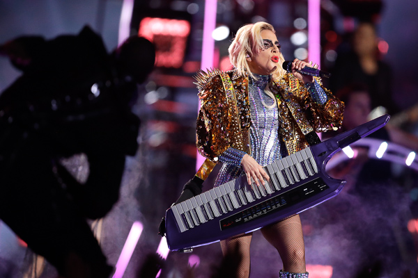 <div class='meta'><div class='origin-logo' data-origin='none'></div><span class='caption-text' data-credit='Darron Cummings/AP Photo'>Lady Gaga performs during the halftime show of the NFL Super Bowl 51 football game between the New England Patriots and the Atlanta Falcons Sunday, Feb. 5, 2017, in Houston.</span></div>