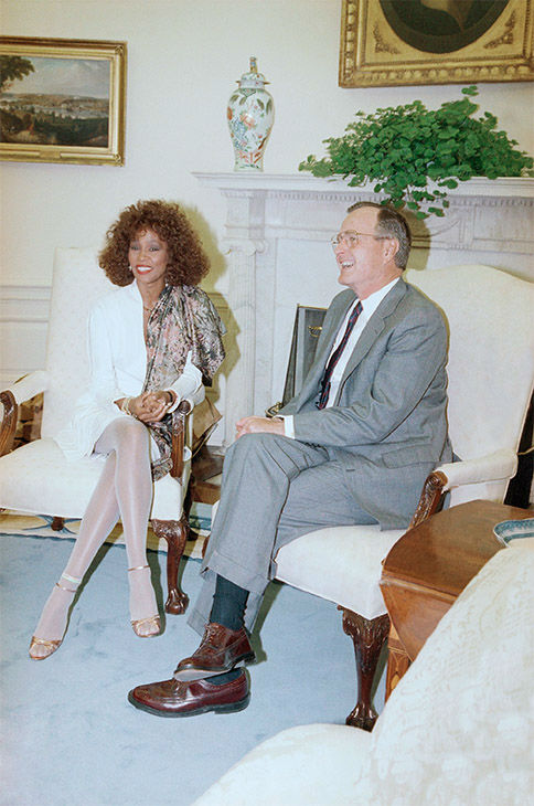 <div class='meta'><div class='origin-logo' data-origin='none'></div><span class='caption-text' data-credit='Photo/AP Photo'>May 1990: Meeting U.S. President George H. Bush in the Oval Office.</span></div>