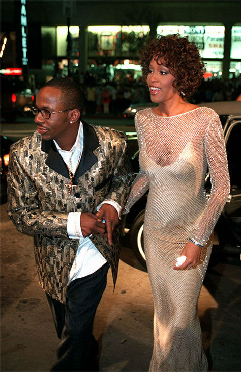 <div class='meta'><div class='origin-logo' data-origin='none'></div><span class='caption-text' data-credit='Photo/AP Photo'>Oct. 1997: Houston with husband Bobby Brown at the premiere of &#34;The Wonderful World of Disney&#34; movie &#34;Cinderella.&#34; Houston served as Exec Producer and played the fairy godmother.</span></div>