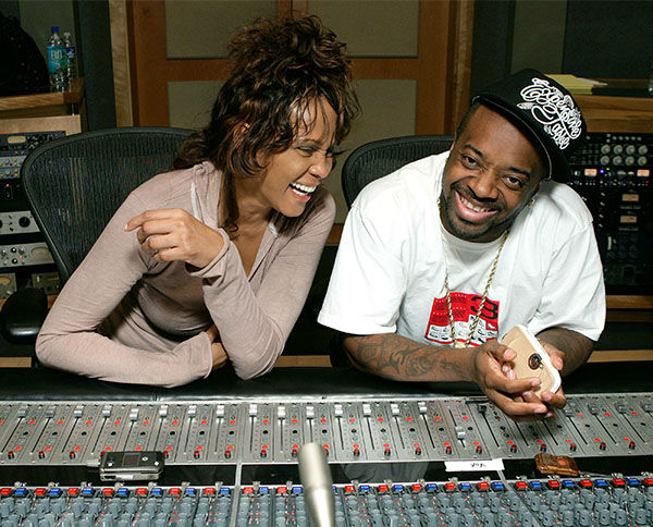 <div class='meta'><div class='origin-logo' data-origin='none'></div><span class='caption-text' data-credit='Photo/AP Photo'>May 2007: Houston in studio with Jermaine Dupri recording her last single &#34;Never Give Up&#34; in California.</span></div>