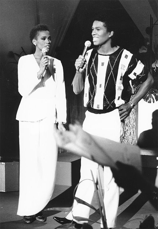 <div class='meta'><div class='origin-logo' data-origin='none'></div><span class='caption-text' data-credit='Photo/AP Photo'>July 1984: Houston, left, and Jermaine Jackson sing during a rehearsal for the CBS television soap opera &#34;As the World Turns&#34; in New York.</span></div>