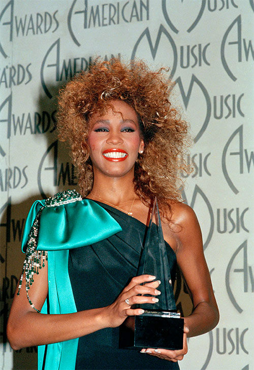 <div class='meta'><div class='origin-logo' data-origin='none'></div><span class='caption-text' data-credit='Photo/AP Photo'>Jan. 1986: Houston shows her American Music Award, at the Shrine Auditorium in Los Angeles, Calif.</span></div>