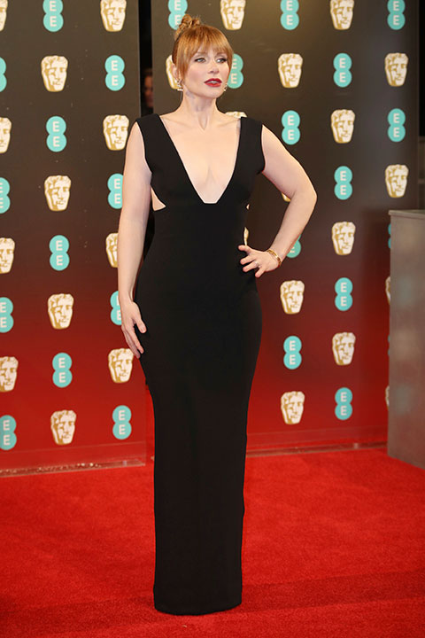 "<div class=""meta image-caption""><div class=""origin-logo origin-image none""><span>none</span></div><span class=""caption-text"">Bryce Dallas Howard arrives at the British Academy Film Awards in London, Sunday, Feb. 12, 2017. (Vianney Le Caer/Invision/AP)</span></div>"