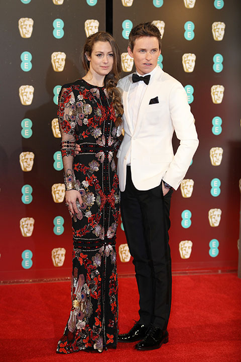 "<div class=""meta image-caption""><div class=""origin-logo origin-image none""><span>none</span></div><span class=""caption-text""> Eddie Redmayne, right, and Hannah Bagshawe arrive at the British Academy Film Awards in London, Sunday, Feb. 12, 2017. (Vianney Le Caer/Invision/AP)</span></div>"