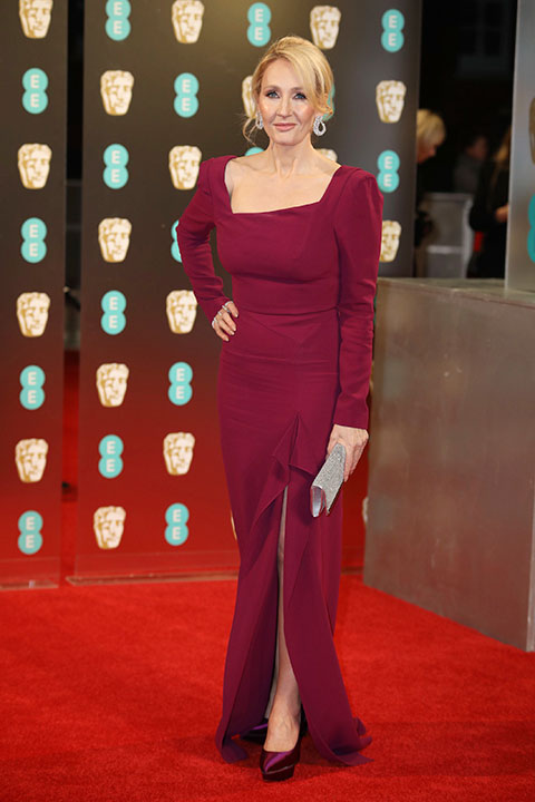 "<div class=""meta image-caption""><div class=""origin-logo origin-image none""><span>none</span></div><span class=""caption-text"">J.K. Rowling arrives at the British Academy Film Awards in London, Sunday, Feb. 12, 2017. (Vianney Le Caer/Invision/AP)</span></div>"