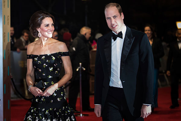 <div class='meta'><div class='origin-logo' data-origin='none'></div><span class='caption-text' data-credit='Vianney Le Caer/Invision/AP'>Princess Kate and Prince William arrive at the British Academy Film Awards in London, Sunday, Feb. 12, 2017.</span></div>