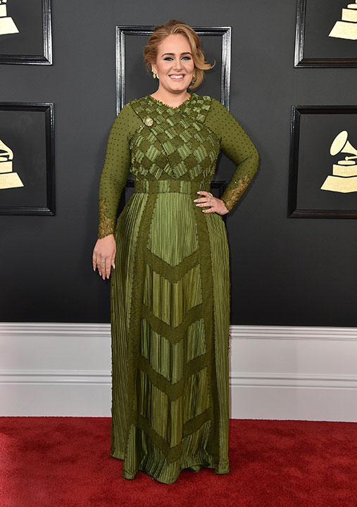 "<div class=""meta image-caption""><div class=""origin-logo origin-image none""><span>none</span></div><span class=""caption-text"">Adele arrives at the 59th annual Grammy Awards at the Staples Center on Sunday, Feb. 12, 2017, in Los Angeles. (Jordan Strauss/Invision/AP)</span></div>"