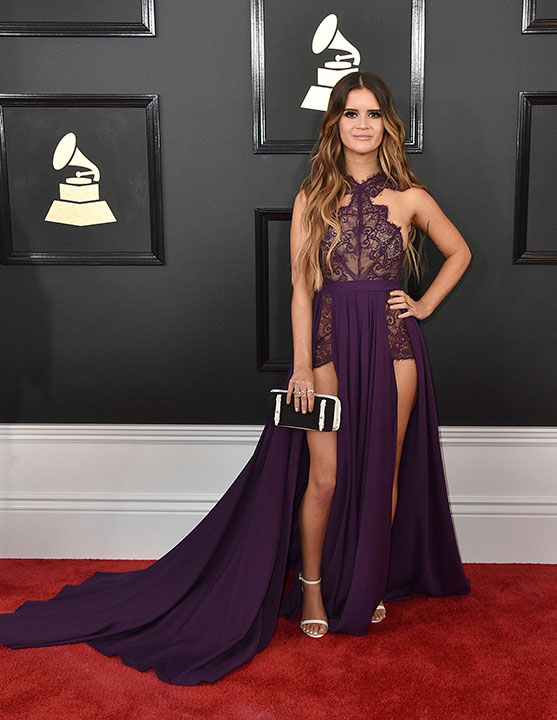 "<div class=""meta image-caption""><div class=""origin-logo origin-image none""><span>none</span></div><span class=""caption-text"">Maren Morris arrives at the 59th annual Grammy Awards at the Staples Center on Sunday, Feb. 12, 2017, in Los Angeles. (Jordan Strauss/Invision/AP)</span></div>"