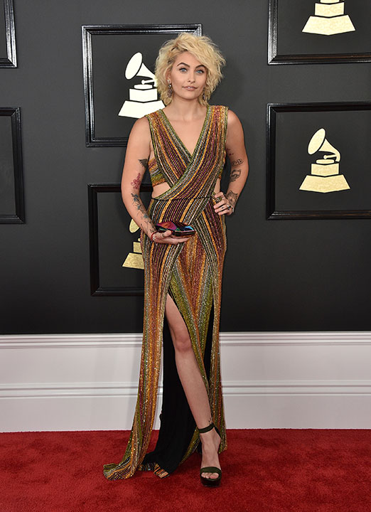 "<div class=""meta image-caption""><div class=""origin-logo origin-image none""><span>none</span></div><span class=""caption-text"">Paris Jackson arrives at the 59th annual Grammy Awards at the Staples Center on Sunday, Feb. 12, 2017, in Los Angeles. (Jordan Strauss/Invision/AP)</span></div>"