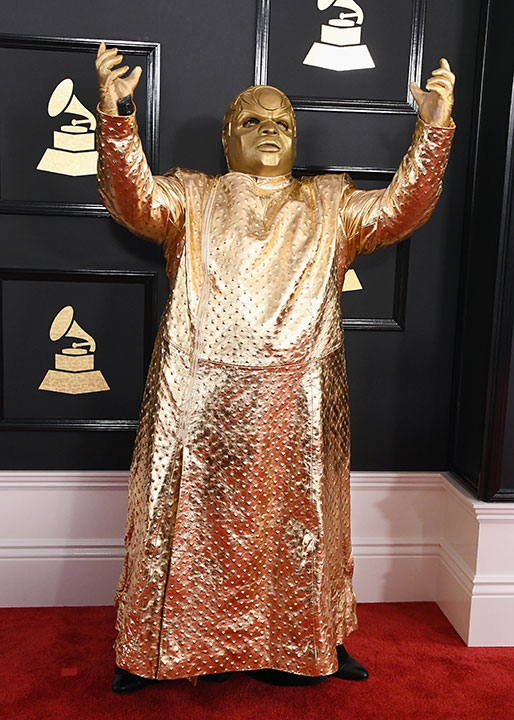 "<div class=""meta image-caption""><div class=""origin-logo origin-image none""><span>none</span></div><span class=""caption-text"">Cee Lo Green arrives on the red carpet at the Grammy Awards in Los Angeles. (Jon Kopaloff/FilmMagic via Getty)</span></div>"